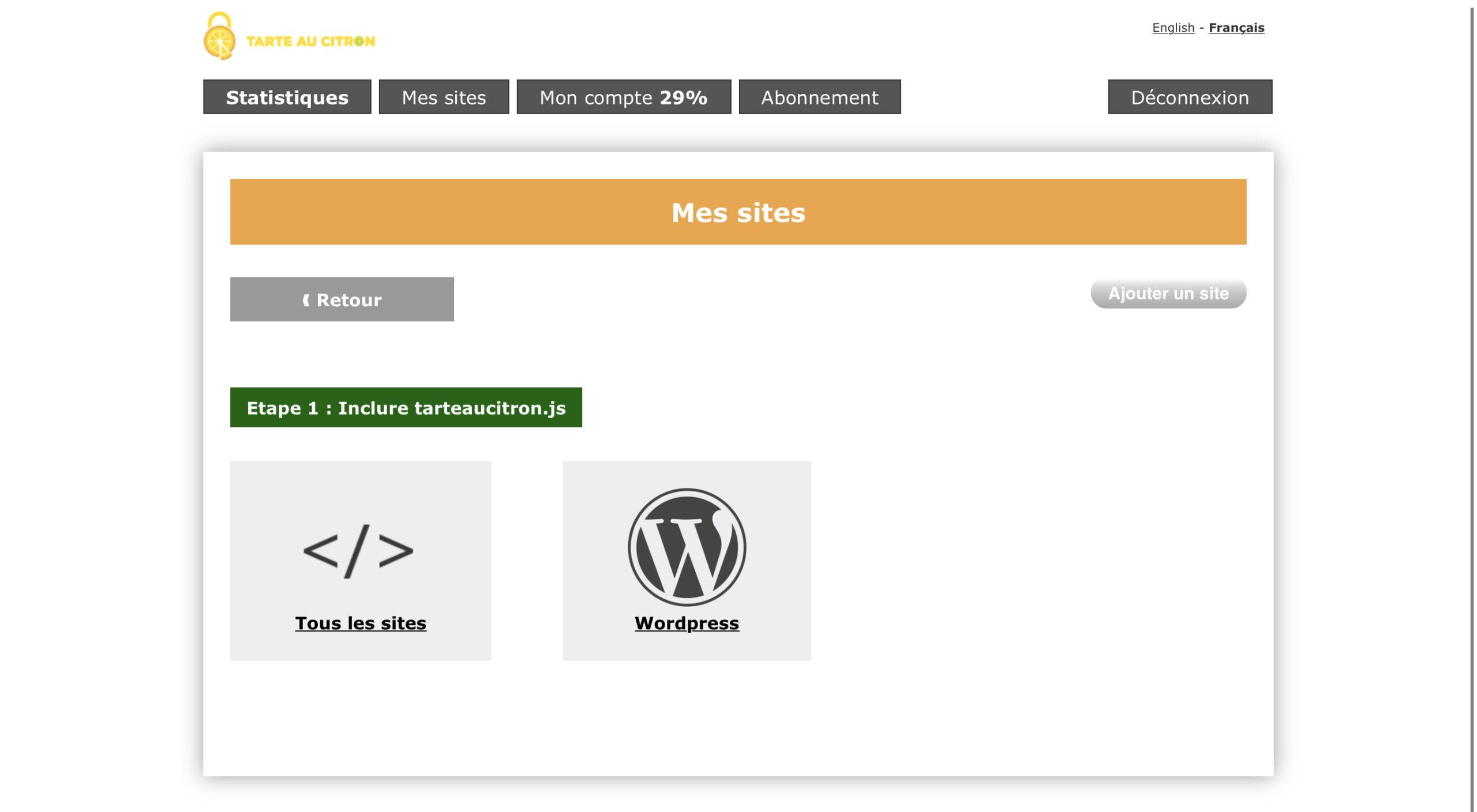 Tarte au citron - Cookies et RGPD - Ajouter sur votre site WordPress - Kozman